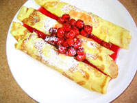 Cherry Kijafa Crepes